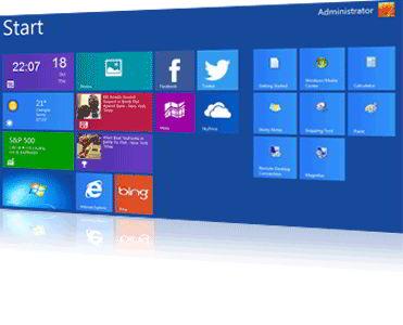 windows XP/7 look like Windows 8