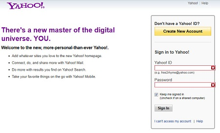 www YahooMail com Login Account Sign In Yahoo Mobile